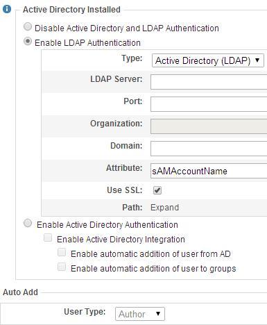 Ektron Authentication Schemes