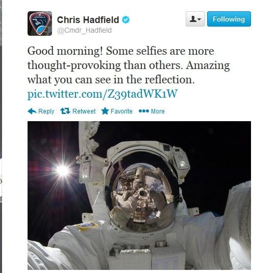 Chris Hadfield Selfie