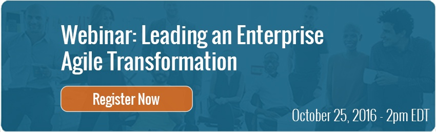 Leading an Enterprise Agile Transformation Webinar