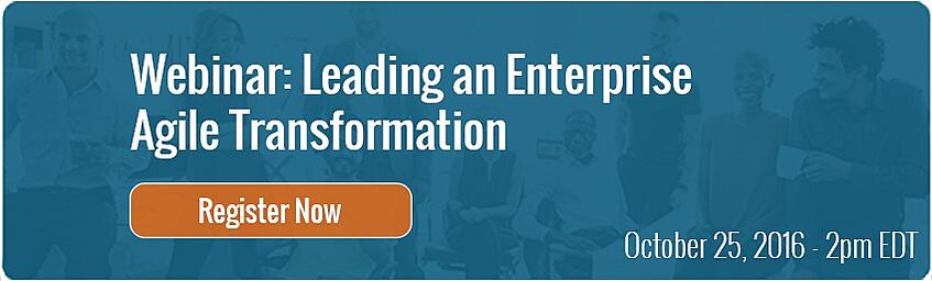 Leading an Enterprise Agile Transformation Webinar